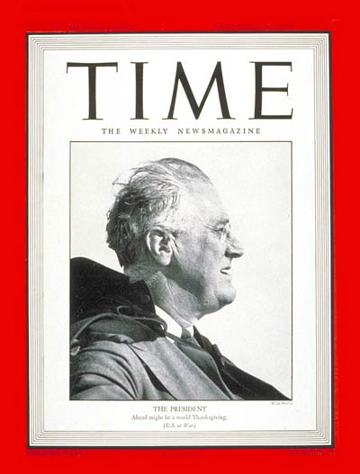 TIME Magazine Cover: Franklin D. Roosevelt -- Nov. 29, 1943