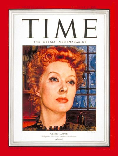 TIME Magazine Cover: Greer Garson -- Dec. 20, 1943