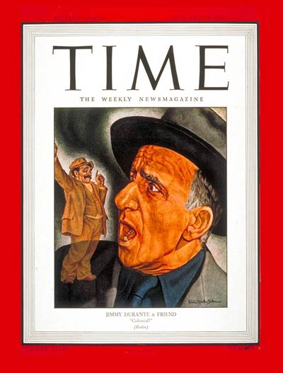 TIME Magazine Cover: Jimmy Durante -- Jan. 24, 1944