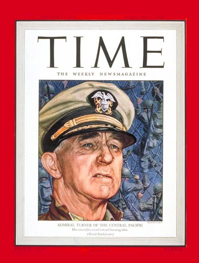 TIME Magazine Cover: Rear Admiral Turner -- Feb. 7, 1944