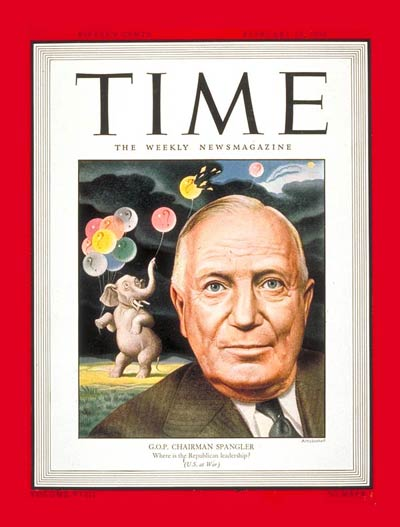 TIME Magazine Cover: Harrison E. Spangler -- Feb. 14, 1944