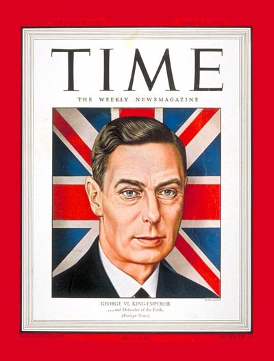 TIME Magazine Cover: King George VI -- Mar. 6, 1944