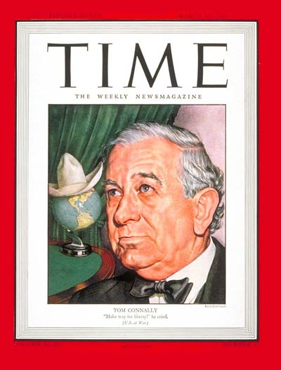 TIME Magazine Cover: Sen. Thomas Connally -- Mar. 13, 1944