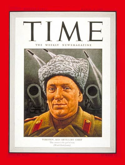 TIME Magazine Cover: Nikolai Voronov -- Mar. 20, 1944