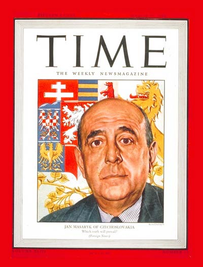 TIME Magazine Cover: Jan Masaryk -- Mar. 27, 1944