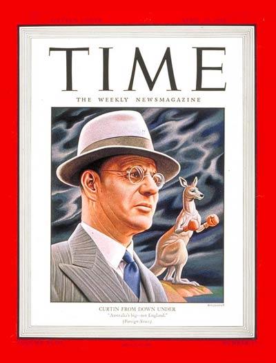 TIME Magazine Cover: John Curtin -- Apr. 24, 1944