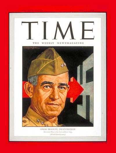 TIME Magazine Cover: Lt. Gen. Omar Bradley -- May 1, 1944