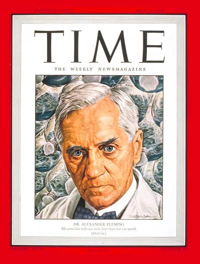 TIME Magazine Cover: Dr. Alexander Fleming -- May 15, 1944