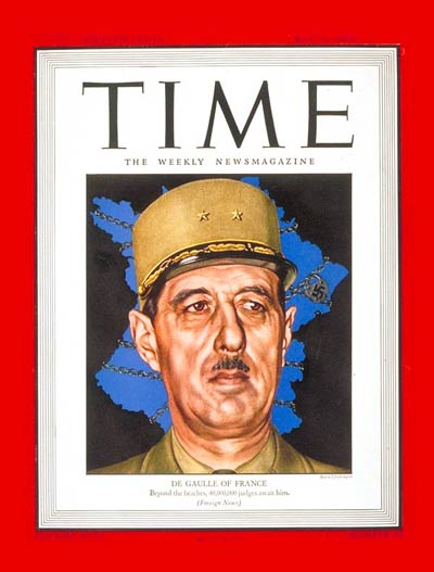 TIME Magazine Cover: Charles DeGaulle -- May 29, 1944