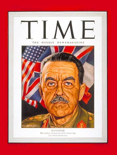 TIME Magazine Cover: Sir Harold Alexander -- June 5, 1944