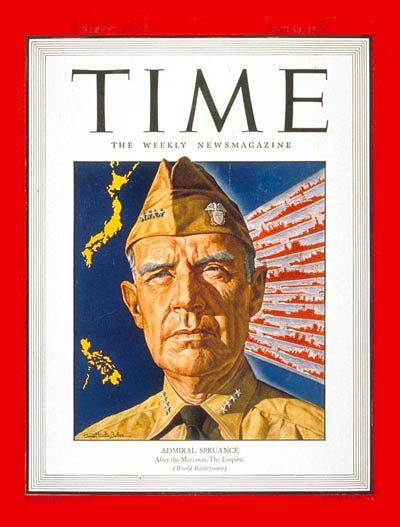 TIME Magazine Cover: Admiral Spruance -- June 26, 1944