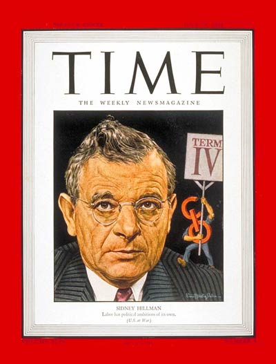 TIME Magazine Cover: Sidney Hillman -- July 24, 1944