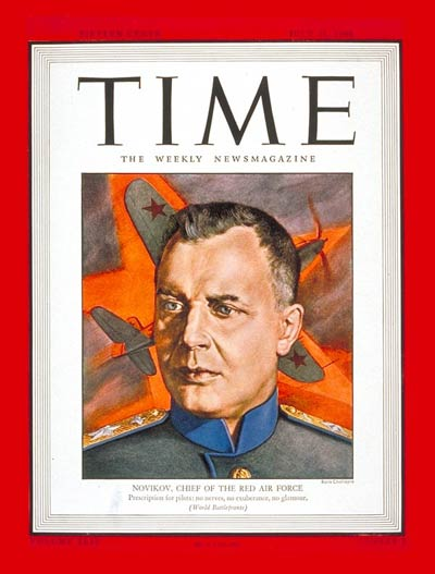 TIME Magazine Cover: Marshal Novikov -- July 31, 1944