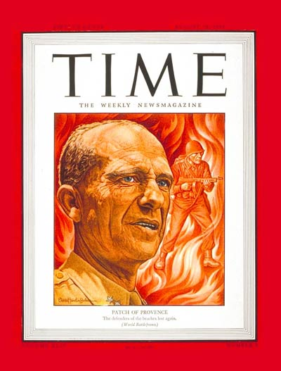 TIME Magazine Cover: Maj. Gen. Patch -- Aug. 28, 1944