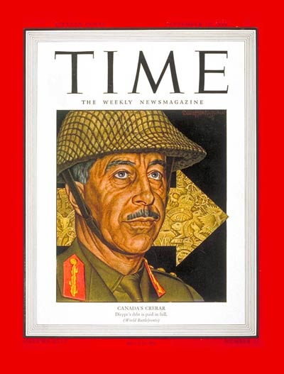 TIME Magazine Cover: Lt. General Crerar -- Sep. 18, 1944