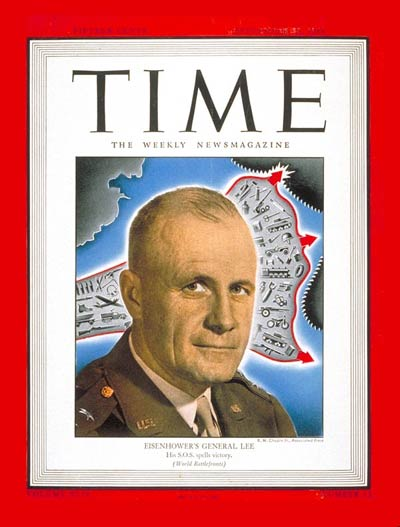 TIME Magazine Cover: Lt. General Lee -- Sep. 25, 1944