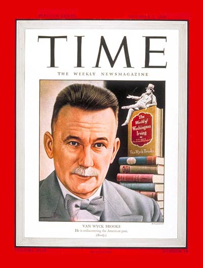 TIME Magazine Cover: Van Wyck Brooks -- Oct. 2, 1944