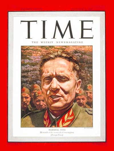 Tito on the front cover of Times Magazine, 1944