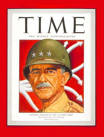 TIME Magazine Cover: Lt. General Hodges -- Oct. 16, 1944
