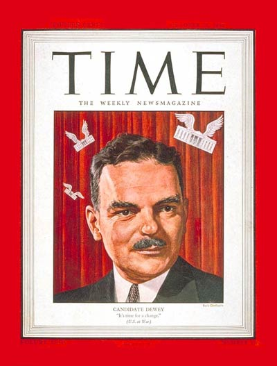TIME Magazine Cover: Thomas E. Dewey -- Oct. 23, 1944