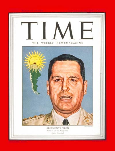 TIME Magazine Cover: Juan D. Peron -- Nov. 27, 1944