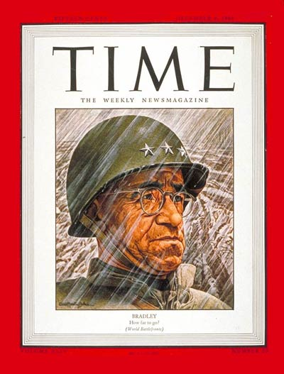 TIME Magazine Cover: Lt. Gen. Omar Bradley -- Dec. 4, 1944