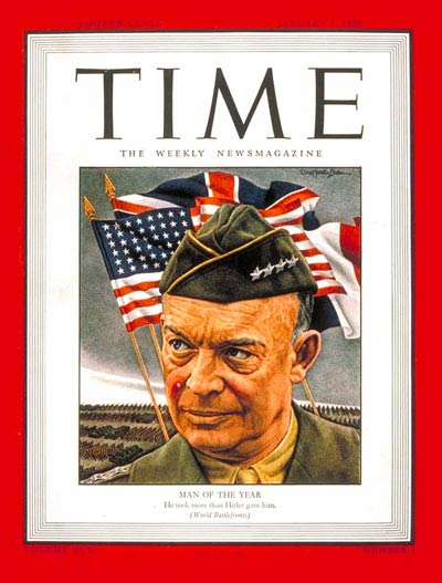 TIME Magazine Cover: General Dwight Eisenhower, Man of the Year -- Jan. 1, 1945