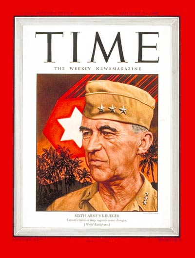 TIME Magazine Cover: General Walker Krueger -- Jan. 29, 1945