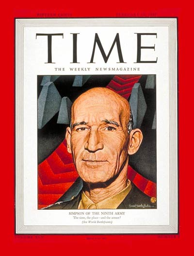 TIME Magazine Cover: Lt. General Simpson -- Feb. 19, 1945