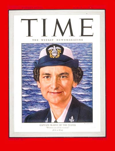TIME Magazine Cover: Capt. Mildred McAfee -- Mar. 12, 1945