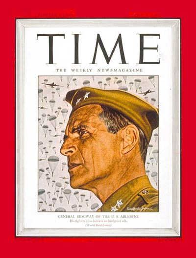 TIME Magazine Cover: Maj. Gen. Ridgway -- Apr. 2, 1945