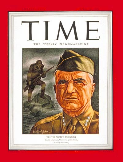 TIME Magazine Cover: Lt. General Buckner -- Apr. 16, 1945
