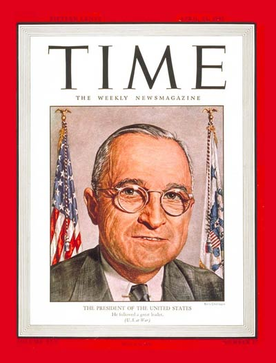 TIME Magazine Cover: Harry S. Truman -- Apr. 23, 1945