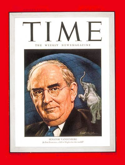 TIME Magazine Cover: Arthur H. Vandenberg -- Apr. 30, 1945