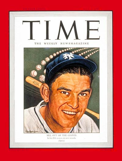 N.Y. Giants baseball player Mel Ott.