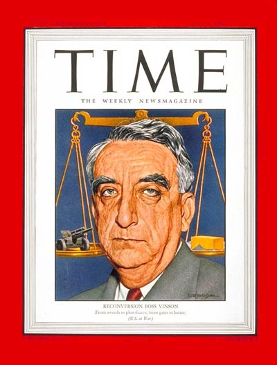 TIME Magazine Cover: Fred M. Vinson -- July 9, 1945