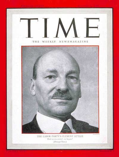 British Labor Party leader Clement R. Attlee