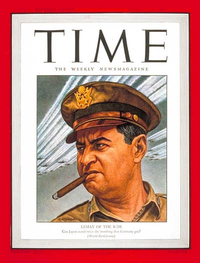 TIME Magazine Cover: Maj. Gen. Curtis LeMay -- Aug. 13, 1945