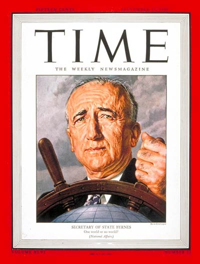 TIME Magazine Cover: James F. Byrnes -- Sep. 17, 1945