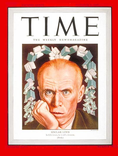 TIME Magazine Cover: Sinclair Lewis -- Oct. 8, 1945