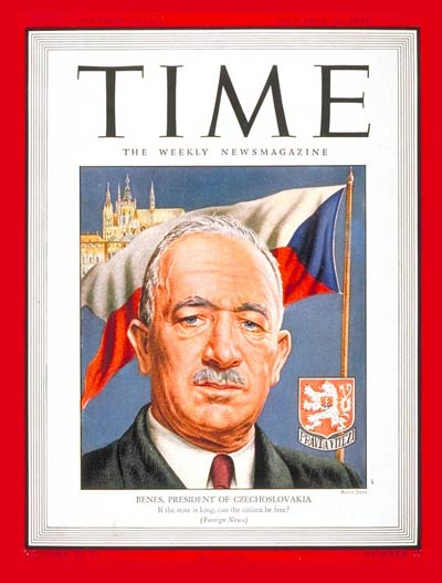 TIME Magazine Cover: Eduard Benes -- Oct. 22, 1945
