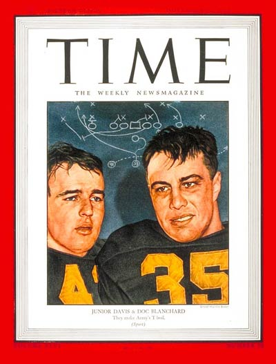TIME Magazine Cover: Glenn Davis and 'Doc' Blanchard -- Nov. 12, 1945