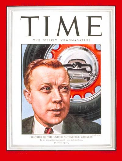 TIME Magazine Cover: Walter Reuther -- Dec. 3, 1945