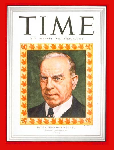 TIME Magazine Cover: William Mackenzie King -- Jan. 7, 1946