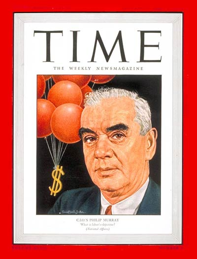 TIME Magazine Cover: Philip Murray -- Jan. 21, 1946