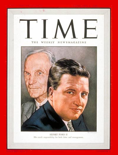 Time Magazine Cover Henry Ford Ii Feb 4 1946 Henry