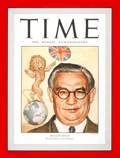 TIME Magazine Cover: Ernest Bevin -- Feb. 18, 1946