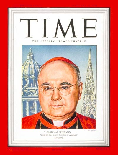 TIME Magazine Cover: Cardinal Spellman -- Feb. 25, 1946