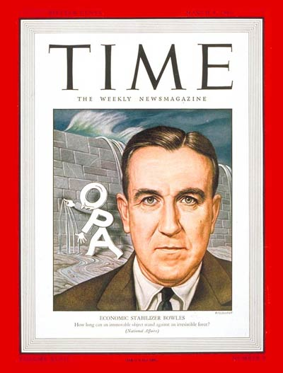 TIME Magazine Cover: Chester Bliss Bowles -- Mar. 4, 1946