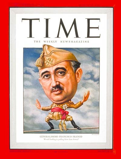 TIME Magazine Cover: Generalissimo Franco -- Mar. 18, 1946